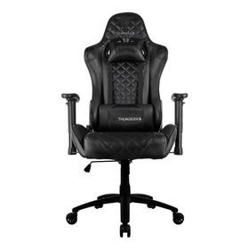Cadeira De Escritório Thunderx3 Tgc12 Ergonômica Black Con Estofado Do Couro Sintético