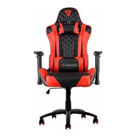 Cadeira De Escritório Thunderx3 Tgc12 Ergonômica Black E Red Con Estofado Do Couro Sintético