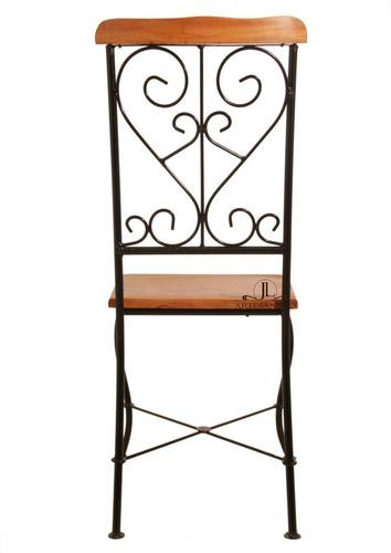 cadeira de ferro e madeira de demolição super preço