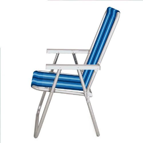 cadeira de praia alumínio alta conforto 120 kg sortido mor