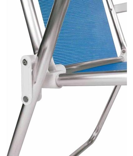 cadeira de praia alumínio alta mor sannet azul