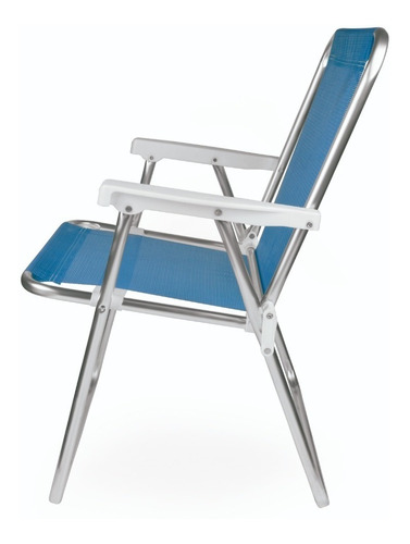cadeira de praia aluminio master azul forte 2274 promoção!!!