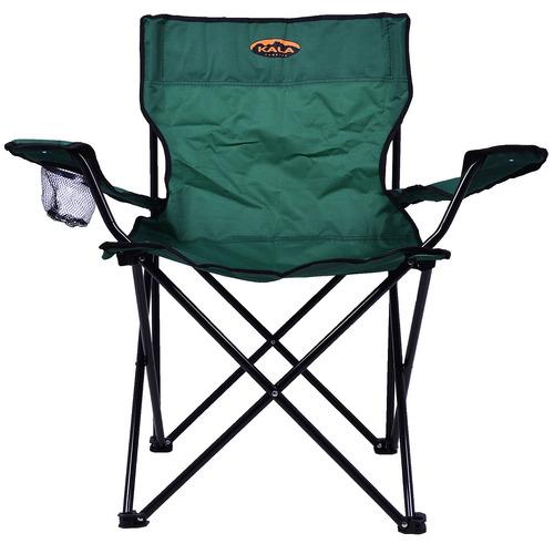 cadeira de praia dobrável poliéster verde kala