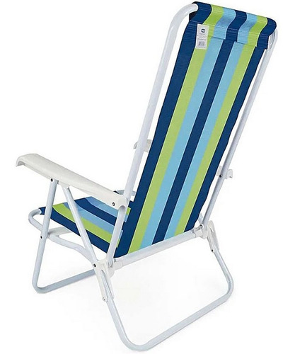 cadeira de praia e piscina aço mor polietileno reforçada