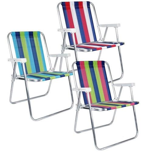 cadeira de praia e piscina alta alumínio belfix