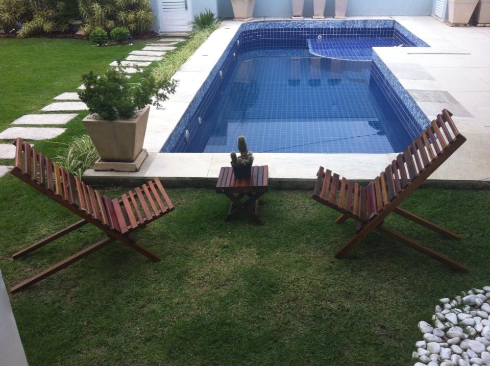 Cadeira de praia piscina jardim e varanda em madeira r for Piscinas e jardins