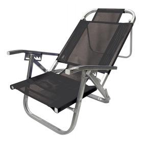 Cadeira De Praia Reclinável - Copacabana - Preto - Botafogo