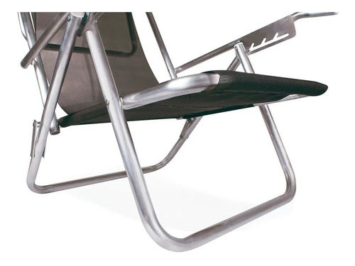 cadeira de praia reclinável 5 posições mor azul 130kg plus