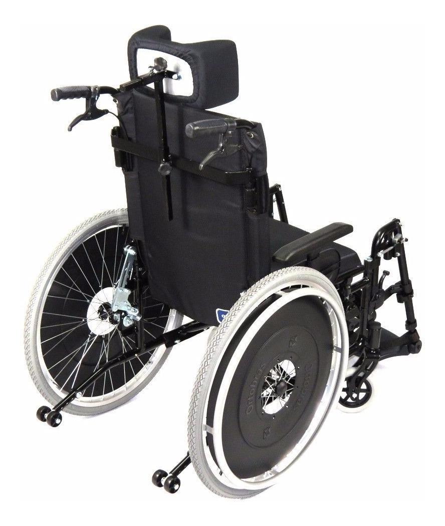 4272674d1 cadeira de rodas avd alumínio reclinável 46 grafite ortobrás. Carregando  zoom.