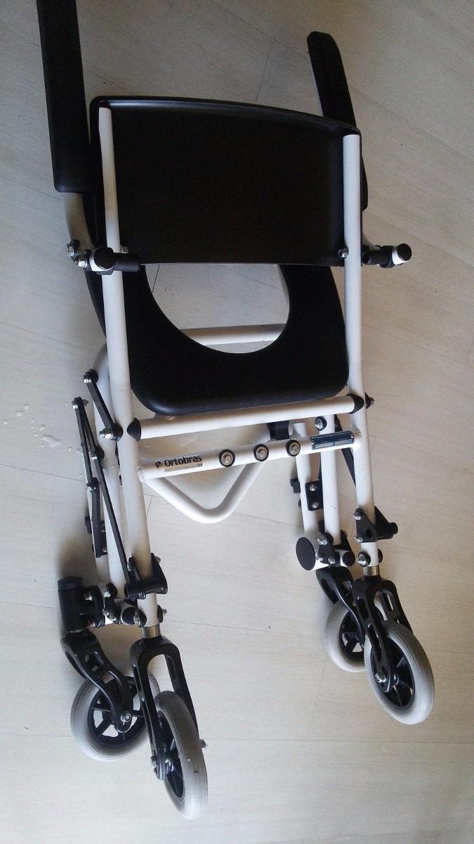 7ce535a14 cadeira de rodas de banho h1-2019- ortobras -desmontável. Carregando zoom.