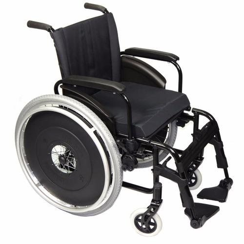 cadeira de rodas ortobras avd alumínio dobrável 120kg maca