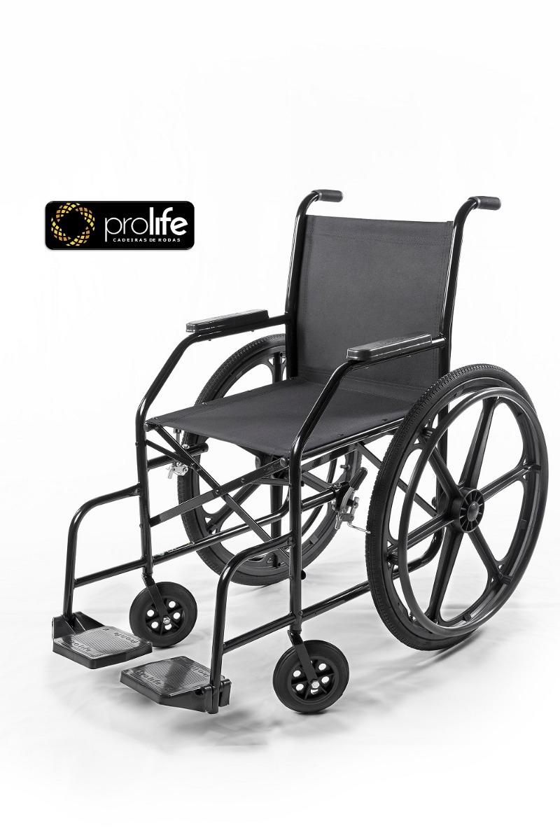 7b00182a7 cadeira de rodas simples pl 002 pneus infláveis - prolife. Carregando zoom.