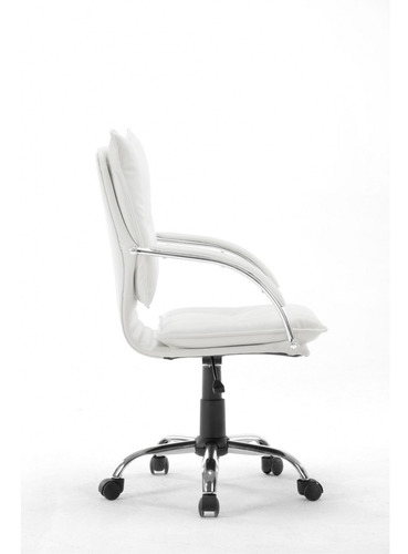 cadeira diretor em couro pu branca pelegrin pel-280