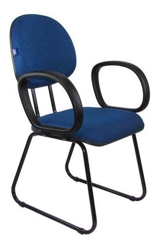 cadeira diretor fixa pé sky com braço