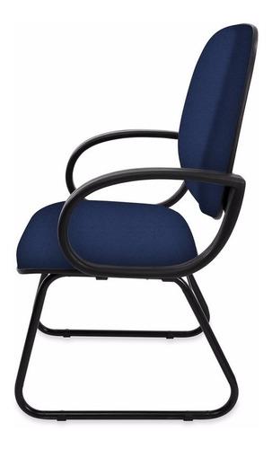 cadeira diretor fixa pé sky injetada c/ braço orelha