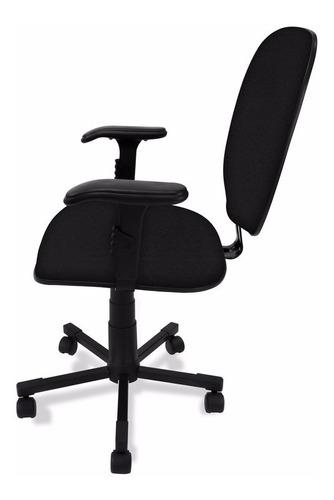 cadeira diretor giratória c/ lamina de aço e braço regulavel
