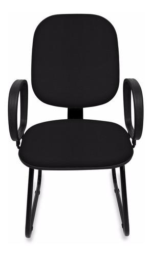 cadeira diretor sky c/ lamina de aço e braço - reforçada