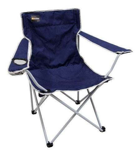cadeira dobrável nautika camping pesca alvorada + bolsa azul