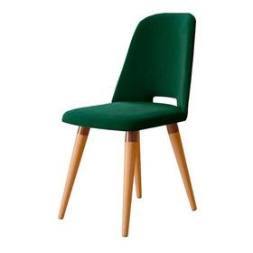 Cadeira Drop Veludo Verde - Cobre - Cinamomo