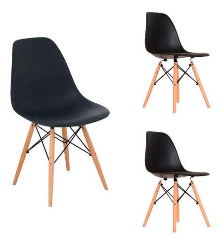 cadeira eames eiffel design charles várias cores - kit com 3