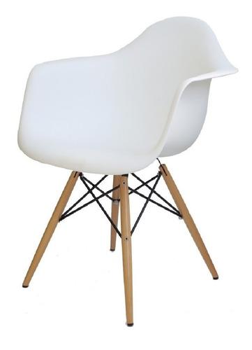 cadeira eiffel charles eames wood com braços design + nf