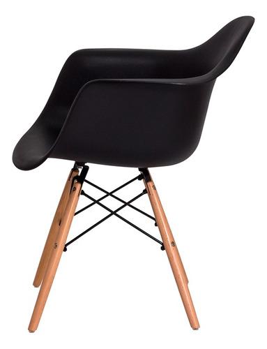 cadeira eiffel eames daw c/braço base madeira várias cores