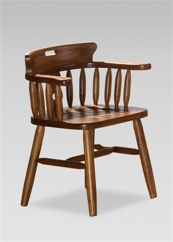 Cadeira Em Madeira Maciça Com Braço A Pronta Entrega - R ...