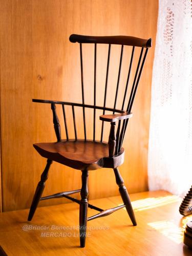 cadeira em madeira para bonecas - american girl  baby alive