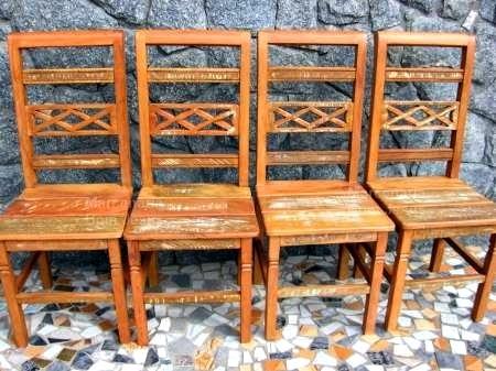 cadeira entalho x madeira de demolição peroba rosa rústico