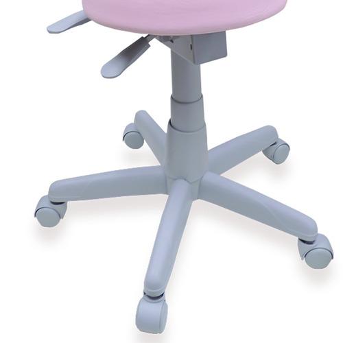 cadeira ergonômica nr 17 mocho dentista podólogo rosa