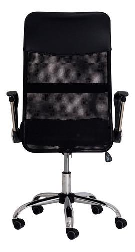 cadeira escritório cairo tela mesh preta base giratória c1