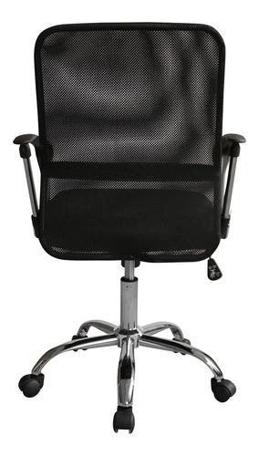 cadeira escritório executiva giratória tela mesh preta