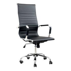 Cadeira Escritório Giratória Presidente Charles Eames Preta