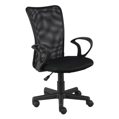 cadeira escritorio lost secretaria preta giratoria + nf