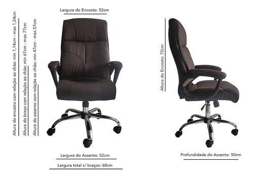 cadeira escritório presidente confort- frete grátis