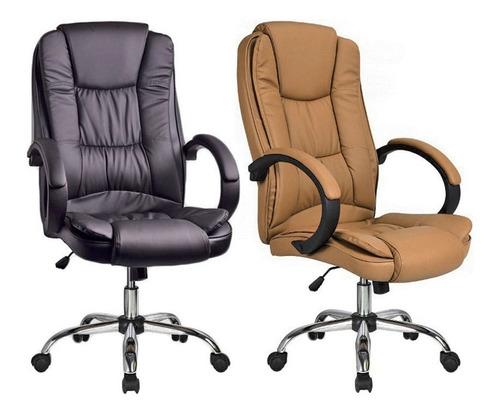 cadeira escritório presidente executiva giratória couro pu