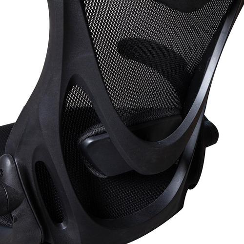 cadeira escritório regulável presidente giratória preta mesh