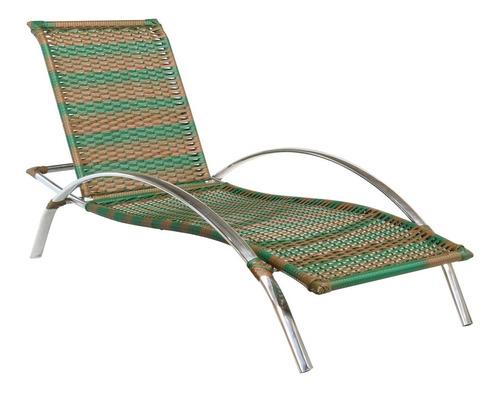cadeira espreguiçadeira  alumínio e fibra sintética nova