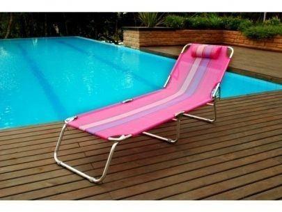 cadeira espreguiçadeira alumínio piscina praia rosa - mor