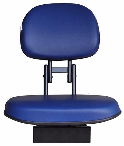 cadeira estofada para barco action - cor azul