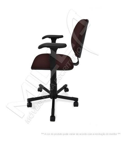 cadeira executiva giratória c/ lamina e braço reg. injetada