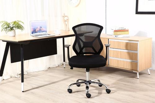 cadeira executiva telada c/descanso p/braço - by-2034