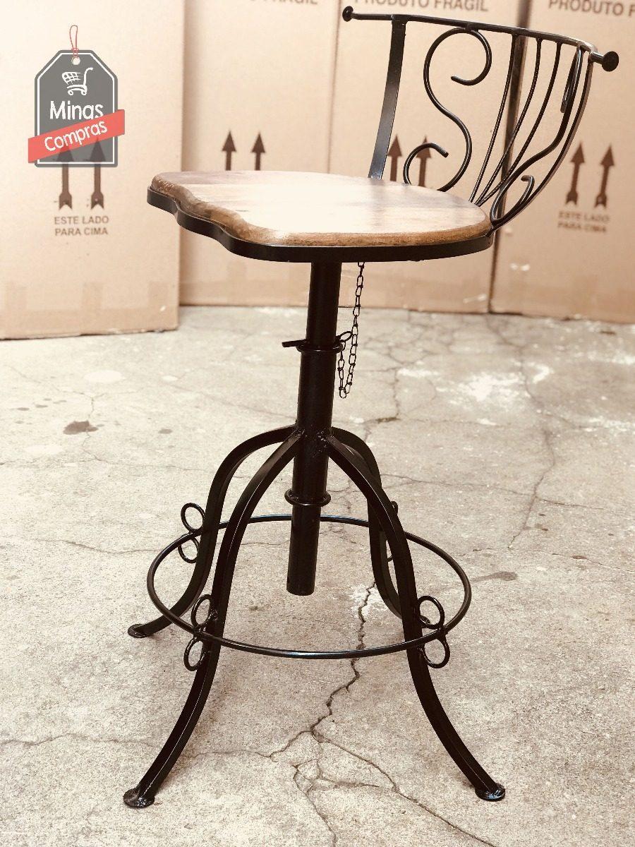 Cadeira Ferro E Madeira Cozinha Americana Promo O Rel Mpago R