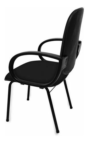 cadeira fixa diretor com braço - direto da fabrica