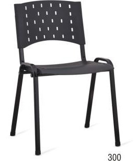 cadeira fixa iso em polipropileno na cor preta