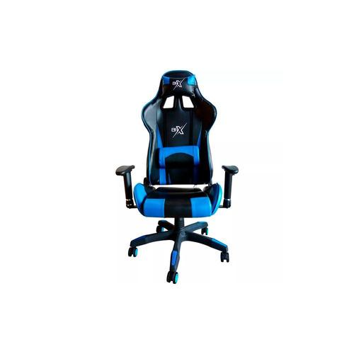 cadeira gamer br-x com 5 rodas preto e  azul