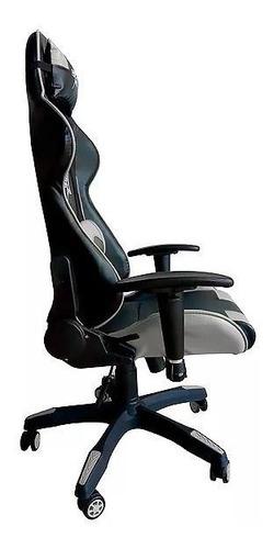 cadeira gamer br-x com 5 rodas preto e  branco