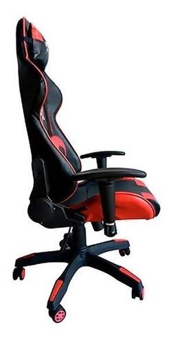 cadeira gamer br-x com 5 rodas preto e  vermelho