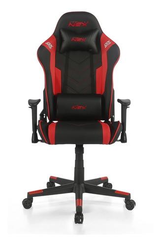 cadeira gamer dxracer nex preta / vermelha (ok134/nr)