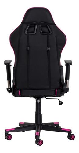 cadeira gamer ii reclinável 180º giratória preta com rosa al